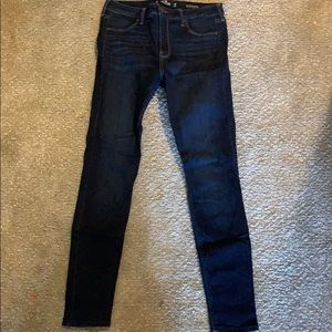Hollister dark wash jegging